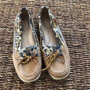 Sperry angelfish leopard boat shoe loafer 7